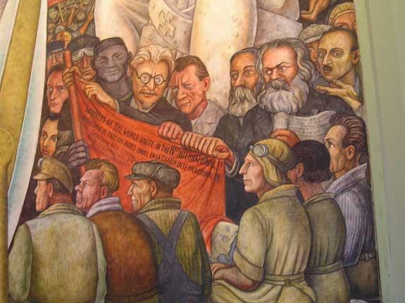 Mural de diego rivera trotsky cuarta internacional